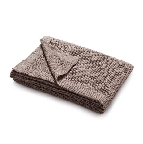 Bilbao knitted throw – Stone