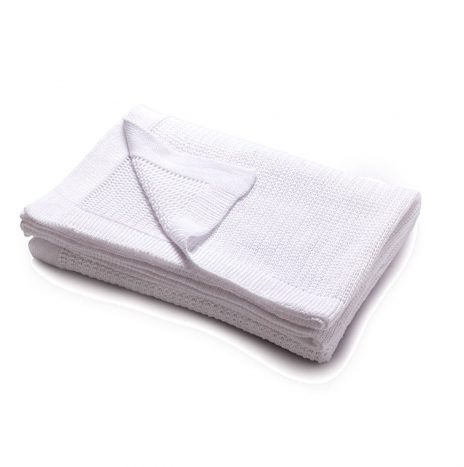 Bilbao knitted throw – White