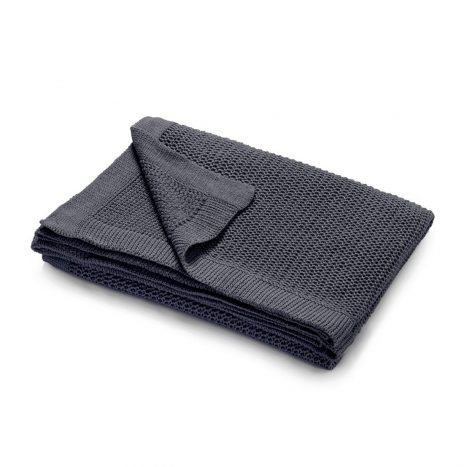 Bilbao knitted throw – Grey