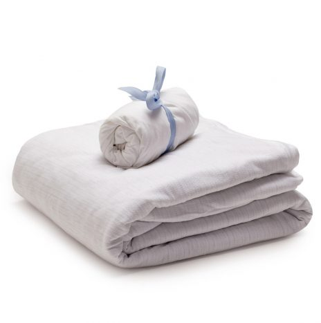 Madrid Baby sheet set – White