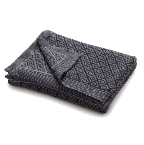Bordeaux knitted throw – Grey/Dark grey