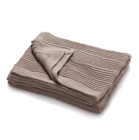Mariselle knitted throw – Stone