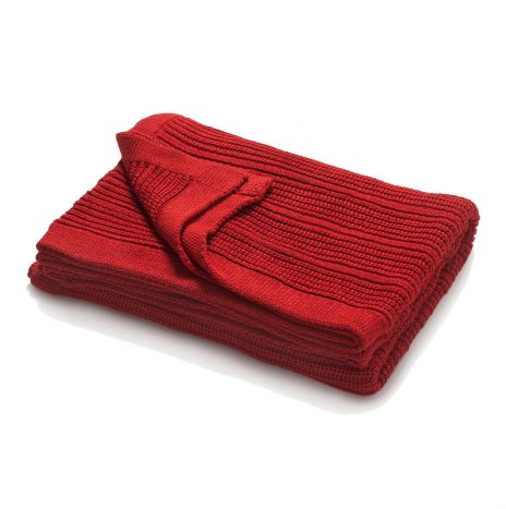 Mariselle knitted throw – Red