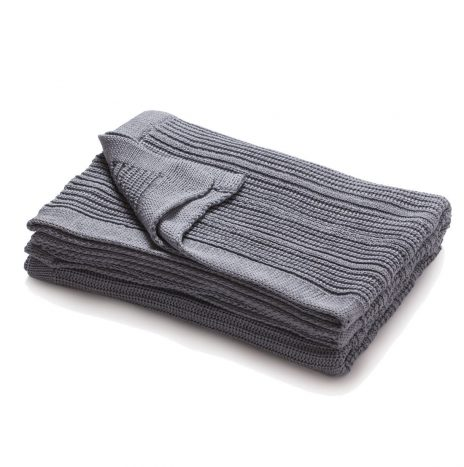 Mariselle knitted throw – Grey