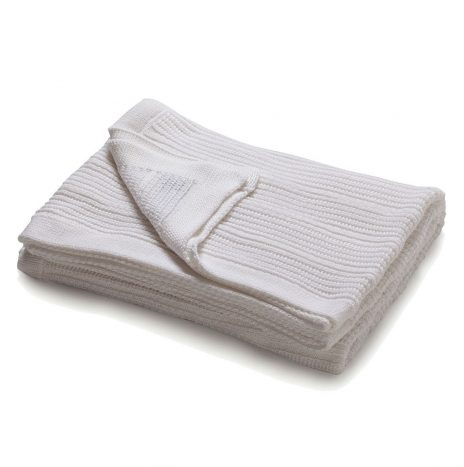 Mariselle knitted throw – White