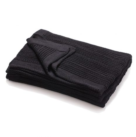 Mariselle knitted throw – Black