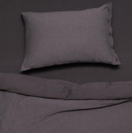 Lille Single sheet set – Dark Grey