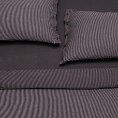 Lille Separate Blanket 2 double Duvet Sheet set -Dark Grey