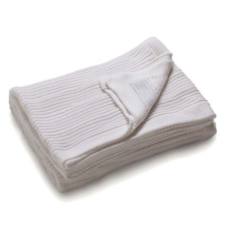 Mariselle Knitted Throw- White