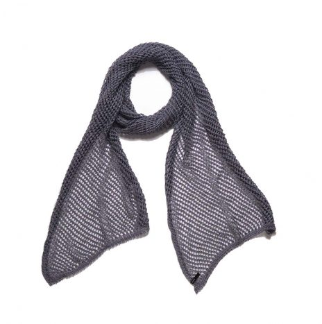 Net Scarf – Dark Grey