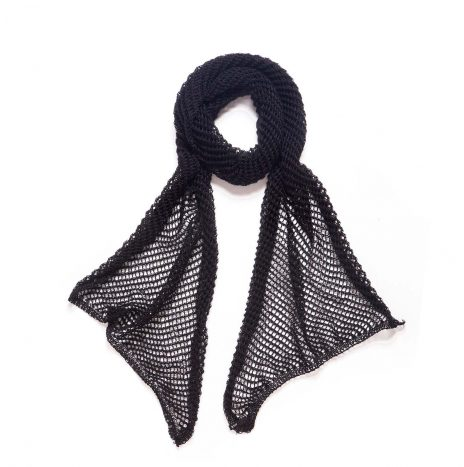 Net Scarf – Black