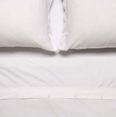 Brie Electric Double duvet sheet set – White