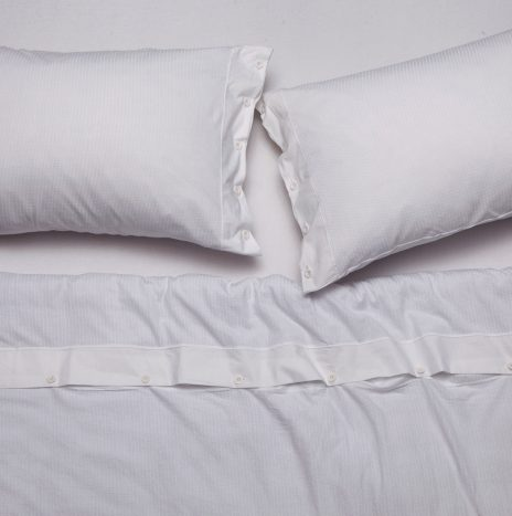 Logan Double Sheet Set – White