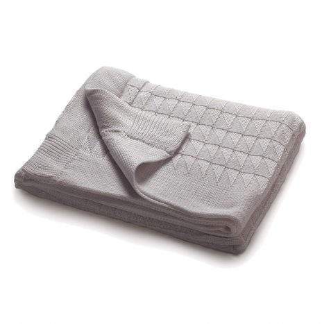 Teddy Knitted Throw – Light Grey