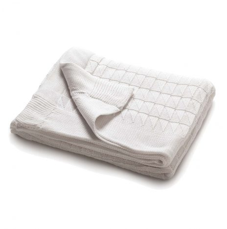 Teddy Knitted Throw – White