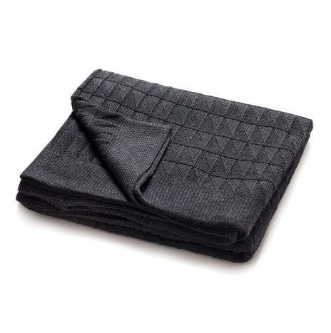 Teddy Knitted Throw – Dark Grey