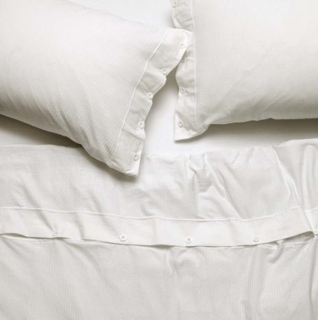 Villa Seperate 2 Single Duvet Sheet Set – White