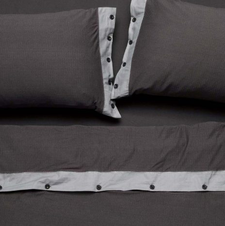 Villa Double Sheet Set – Dark Grey