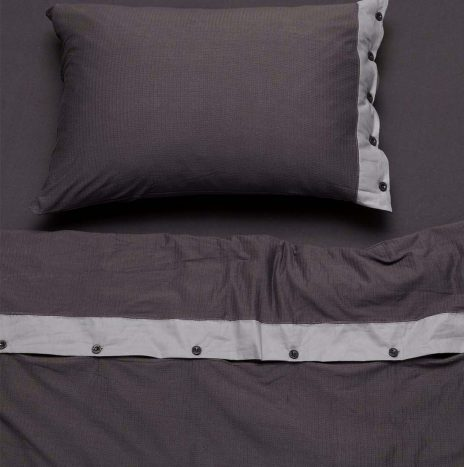 Villa Single Sheet Set – Dark Grey