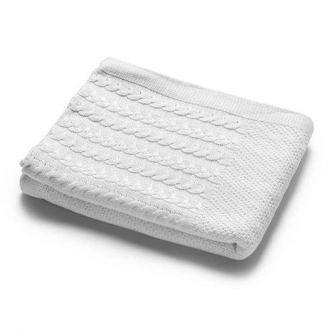 Madison Knitted Throw – White
