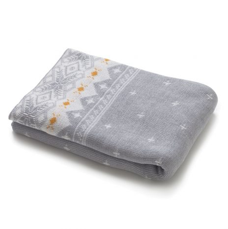 Harold Knitted Throw – Grey