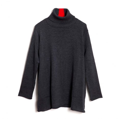 Brookyn Turtle Neck -Dark Grey