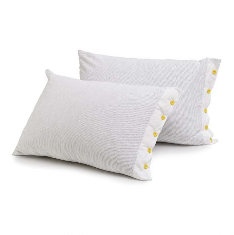 Soho Button Pillow case – white