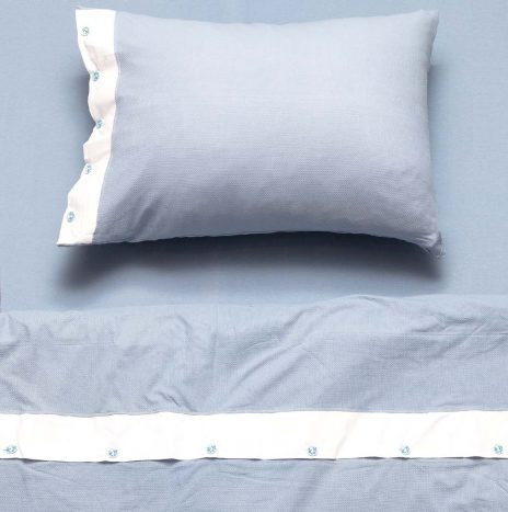 Hanny Single Douvet Sheet set – Light Blue