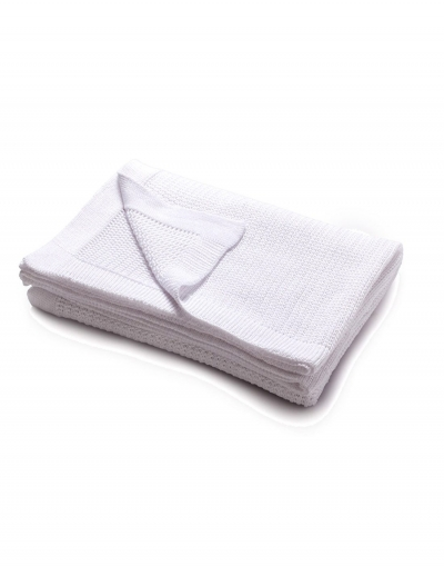 Bilbao knitted throw - White
