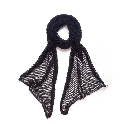 Net Scarf - Black