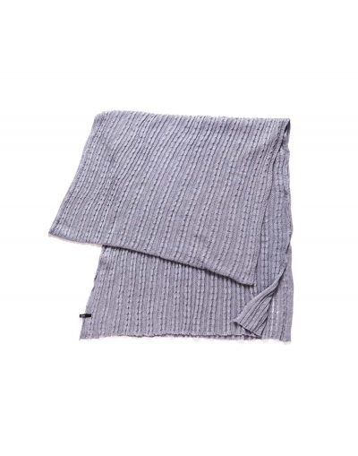 Cable Knit Shawl - Grey