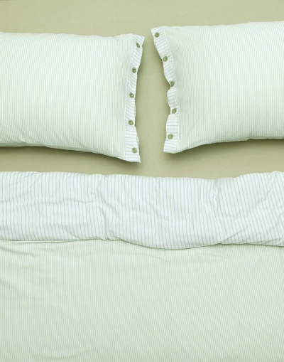 Goldy Double Sheet Set - Green